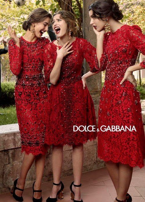 Dolce and Gabbana vintage red