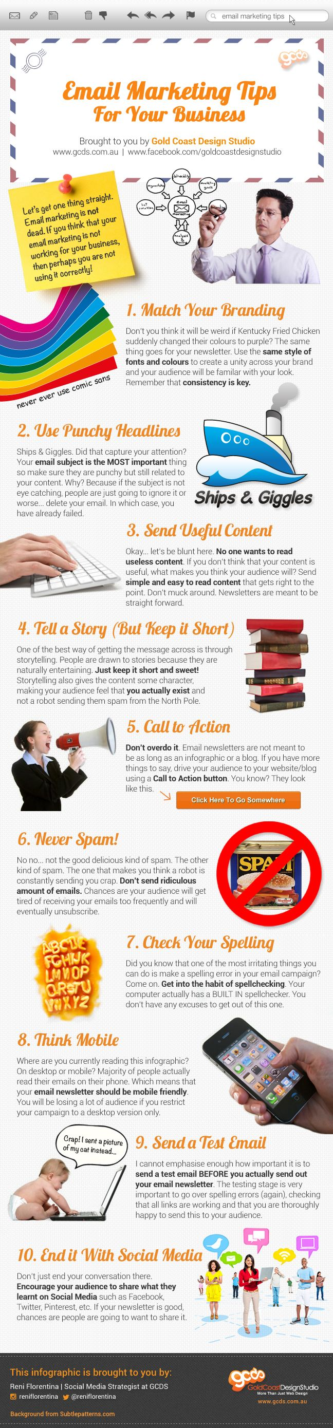 eMail Marketing Tips For Your Business #Infographics — Lightscap3s.com