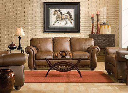 Elba Traditional Leather Living Room Collection | Design Tips U0026 Ideas |  Raymour And Flanigan Furniture
