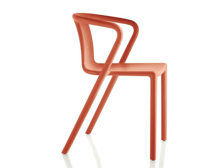 Stackable polypropylene chair with armrests AIR-ARMCHAIR by Magis design Jasper Morrison