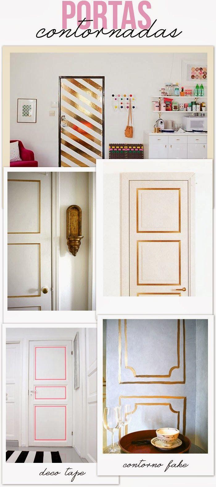 door - frame - outline - idea - gold - decotape - diy