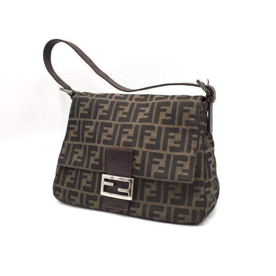 8a02b84988 Authentic Vintage Fendi Zucca Mama Baguette Bag | Fendi Vintage Bag ...