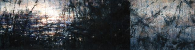 Available for sale from Mana Contemporary, Ekaterina Smirnova, Nature and Men (2014), Watercolor on rough Arches paper, 40 × 155 in