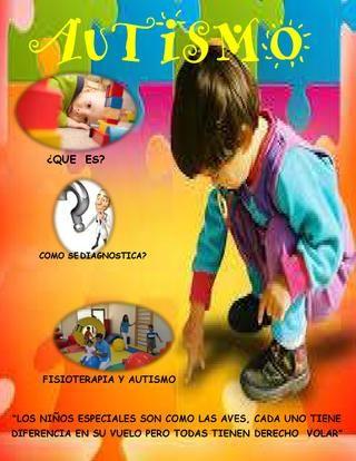 Autismo y fisioterapiia  una revista don de encontraran que es y cuales son las posibles causas del autismo además de el tratamiento que un fisioterapeuta puede dar  para mejorar la calidad de vida de las personas con esta enfermedad
