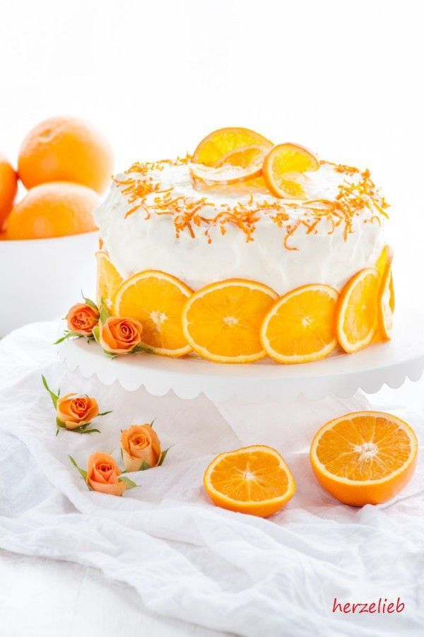 Ein tolles Rezept für eine fruchtige Orangentorte