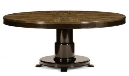 Randal Dining Table - Rosewood Sunburst Top/Museum High Polish by Nancy Corzine (Hinc at SFDC)