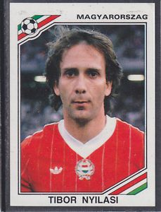 Image result for mexico 86 panini hungary nyilasi