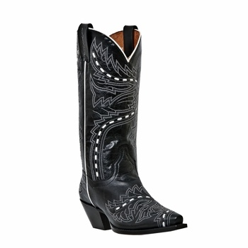 Awesome Dan Post Boots Women39s DP3582 Black Studded Leather Western Boots