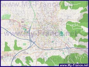 Подробная карта города Экс-ан-Прованс