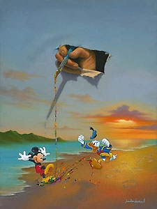 Mickey Mouse - Walt's Magic Brush - Jim Warren - World-Wide-Art.com - $895.00