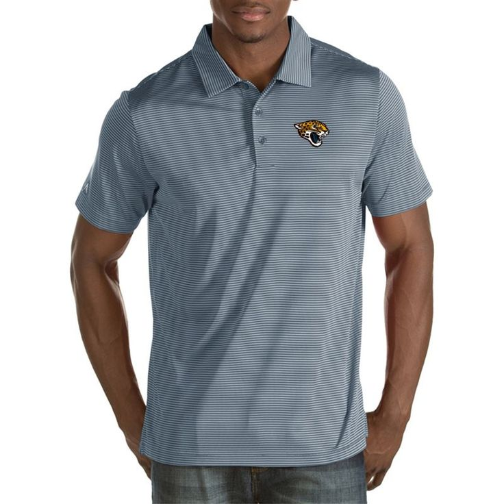 Antigua Men's Jacksonville Quest Grey Polo, Team