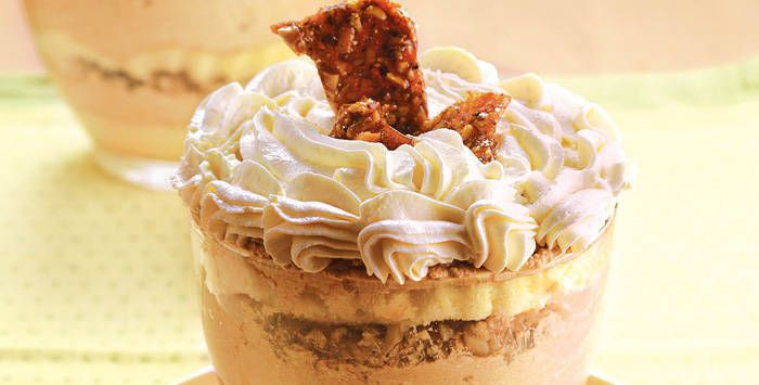 No-bake Cafe Praline Trifle