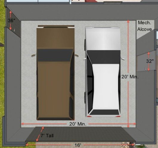 25 best ideas about standard garage door sizes on for Standard double car garage door size