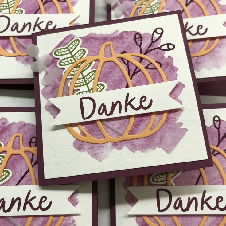 Mini-Dankeskärtchen Pick a Pumpkin, Stampin' Up!