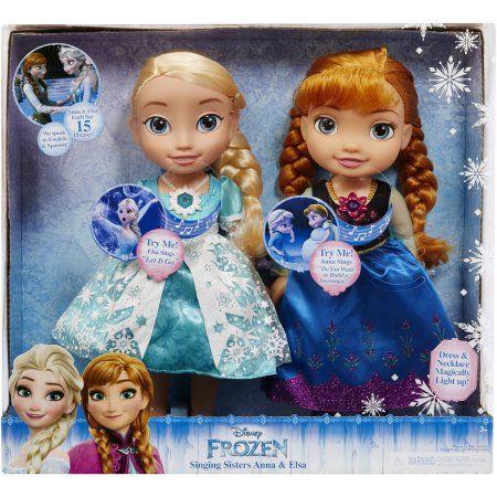 Disney Frozen Singing Sisters Elsa and Anna Dolls (Exclusive) - Walmart.com