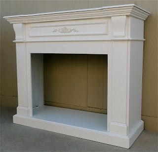 The Backyard Boutique by Five to Nine Furnishings: Shabby Chic Fireplace Mantle