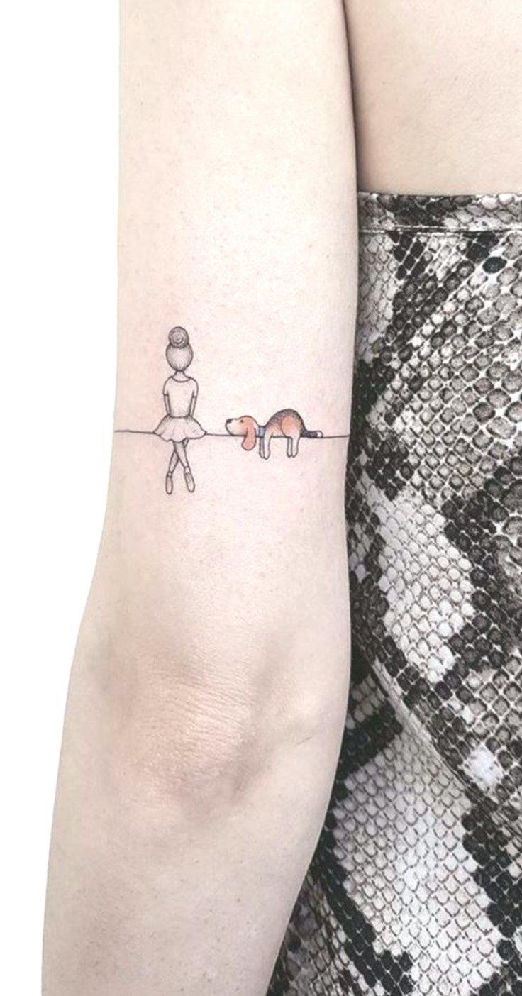 30 niedliche kleine & einfache Hund Tattoo-Ideen für Frauen Tierliebhaber – Cre… – Frauen