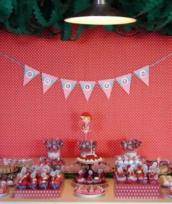 Fantástico Ofício: Festa de Chapeuzinho Vermelho - mesa de doces