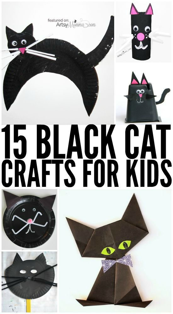 15 adorable black cat crafts for kids - Halloween Arts And Crafts For Kids Pinterest