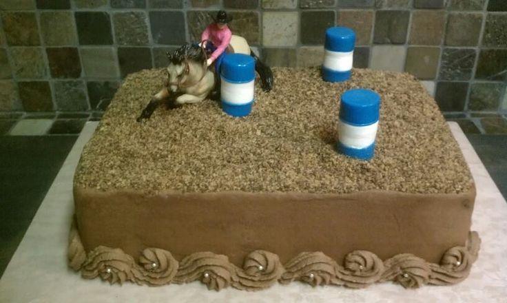 Barrel racer theme cake in 2020 happy birthday cakes