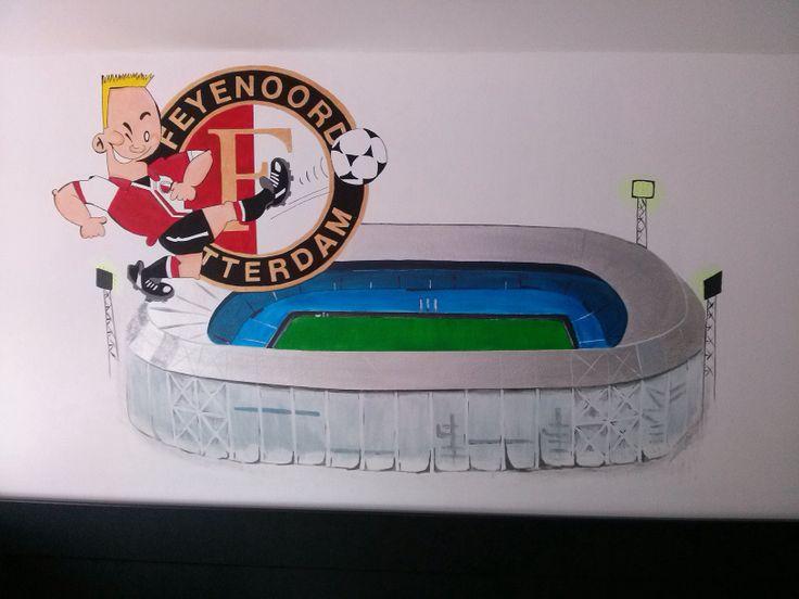 #Feyenoord #muurschildering #niekiekidsdesign