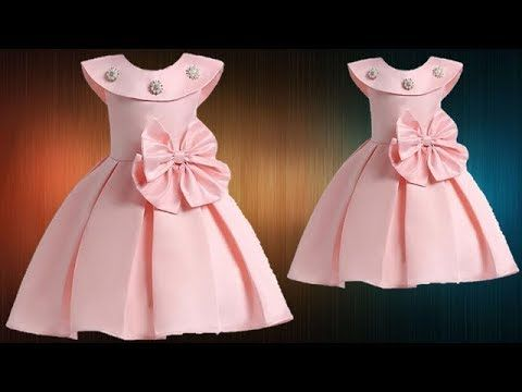 87cefaedf8c DIY Designer Box Pleated Baby Frock Cutting And Stitching Full Tutorial -  YouTube