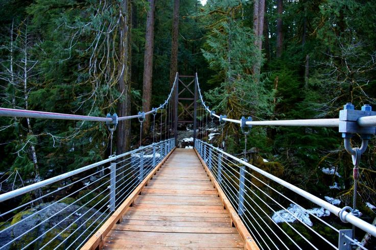 Staircase Loop Bridge -- Olympic national park hikes, easy-med-hard