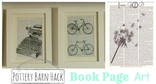 [Pottery Barn Hack] Book Page Wall Art