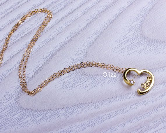 Heart necklace / Love pendant / Bridesmaid gift / Love you to