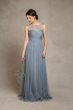 Slate blue dress for bridesmaids 'Aria' Bridesmaid Dress by Jenny Yoo 2015