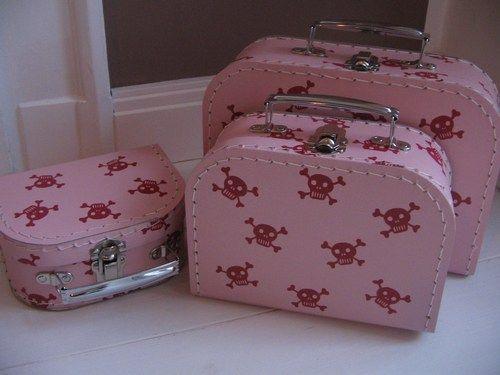 Kinderkoffer  * Pirat rosa  *
