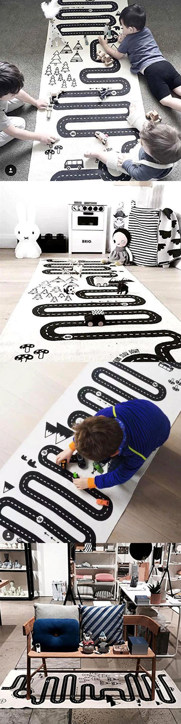 Kids Rugs: Kids Play Rug Cotton Children Road Room Girls Boys Mat Area Bedroom Carpet BUY IT NOW ONLY: $41.96 #priceabateKidsRugs OR #priceabate
