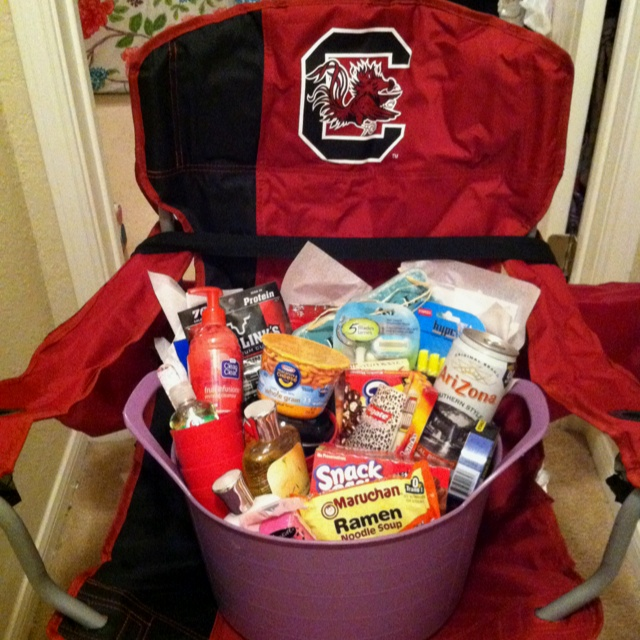 USC going away to college basket, high school graduation present!