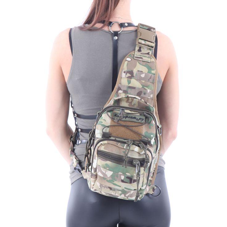 Сумка KE на плечо 5 литров из ткани «Cordura» 1000 Den цвета «Multicam» - продажа «Камуфляж ру»