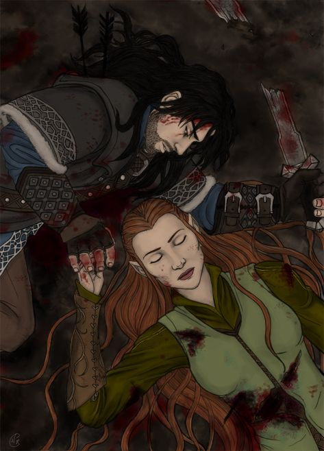"""""""Boe i 'waen, Tauriel."""" """"You know Sindarin?"""" """"I'm dying, Tauriel. I learned it to tell you goodbye."""""""