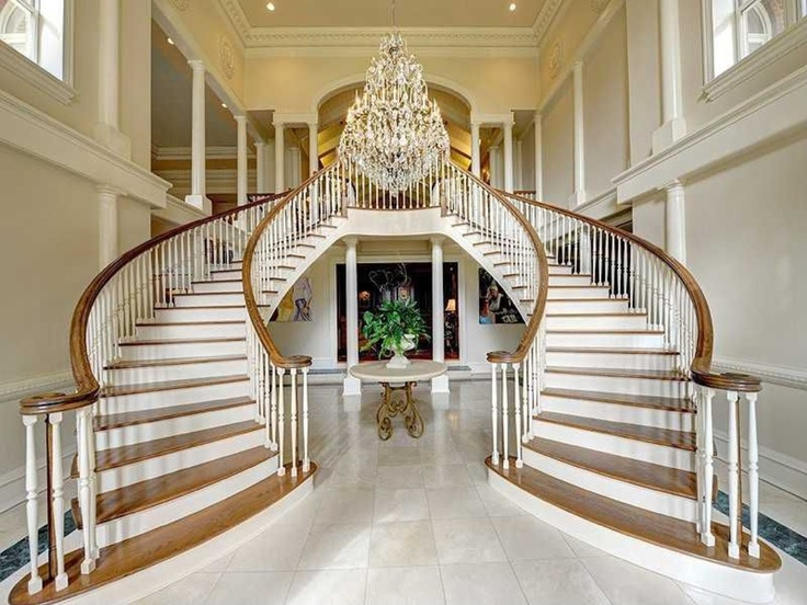 214 best images about home design stairs staircases on for House plans with stairs in foyer