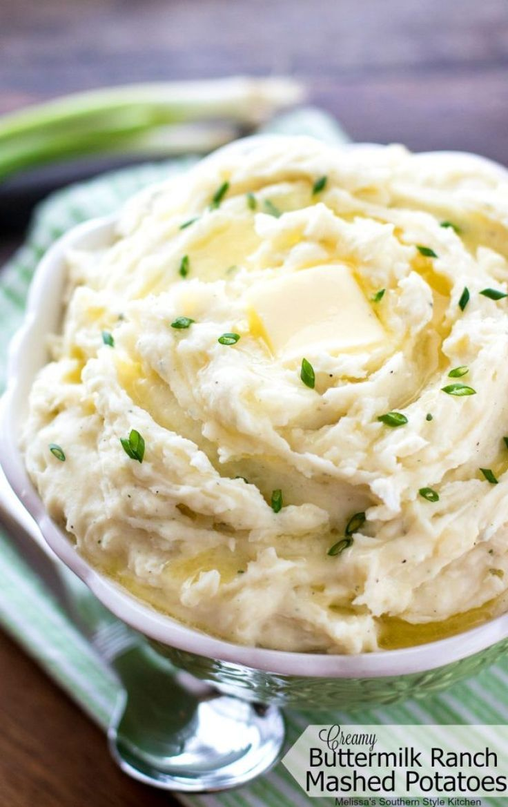 Creamy Buttermilk Ranch Mashed Potatoes Ranch Mashed Potatoes Mashed Potato Recipes Ranch Dressing Mashed Potatoes