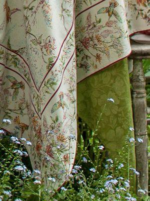 New Arrivals for Spring! Whisper Tablecloth - Ecru. April Cornell