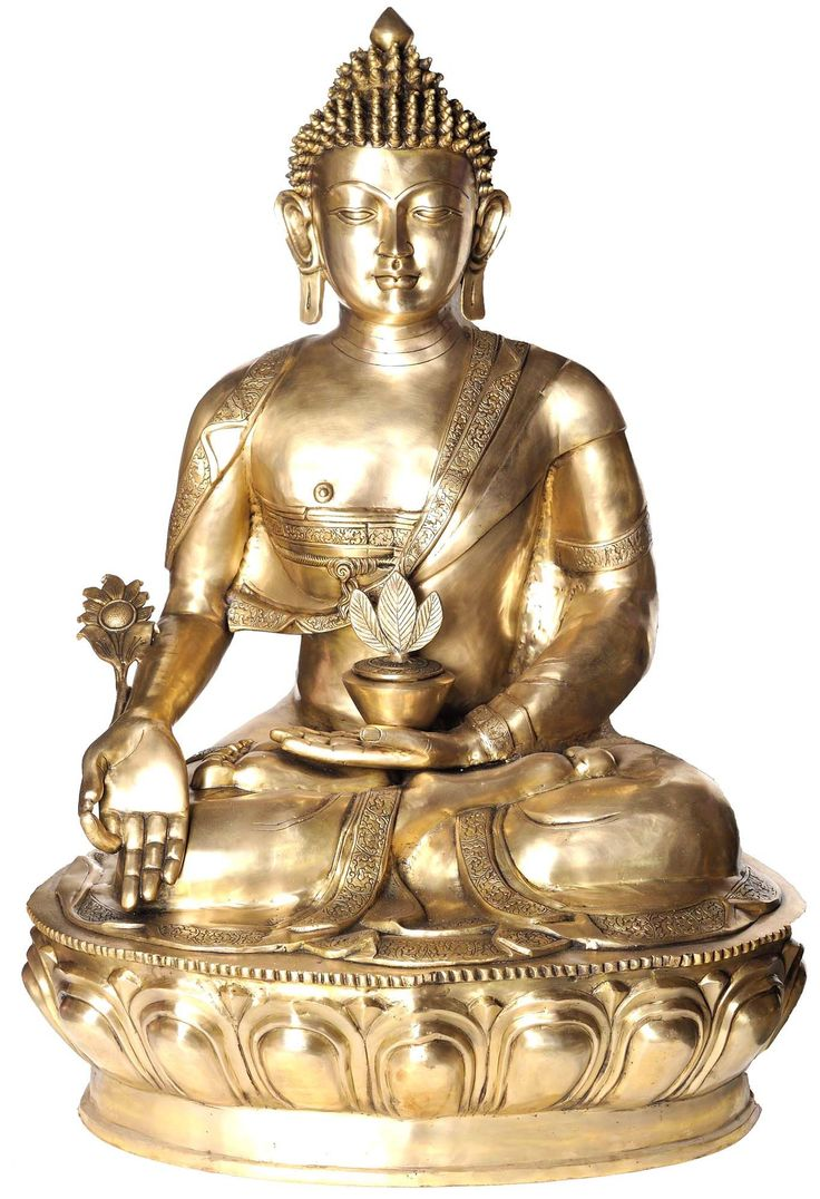 Item Code: Brass Statue inch x inch x inch kg SHIPS FOR FREE FROM INDIA   Buddha, at Bodhisattva Manjushris request, taught in Vaishali the origin  of the ...