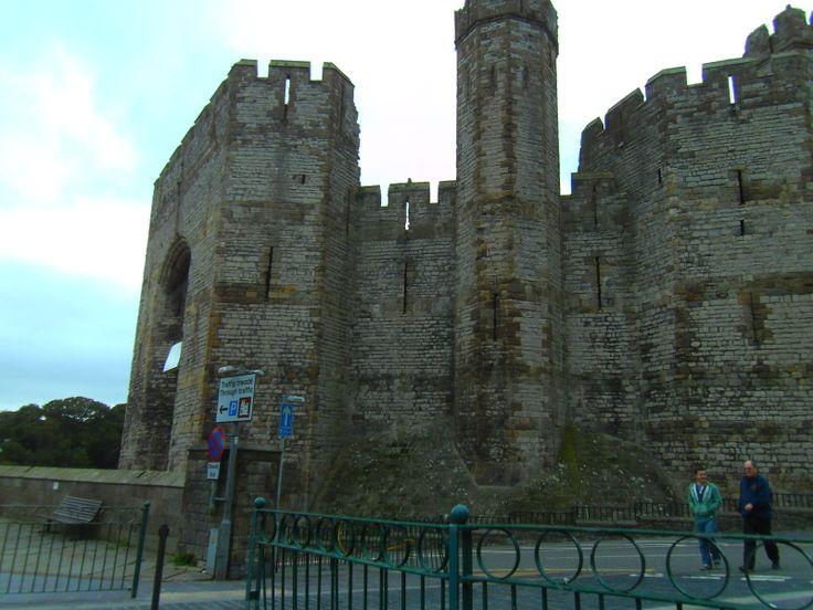 This photograph was taken in Caernarfon of Caernarfon Castle.
