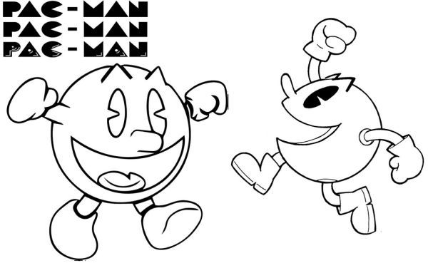 Pacman Coloring Pages Printable Free Coloring Pages Coloring Pages Free Coloring
