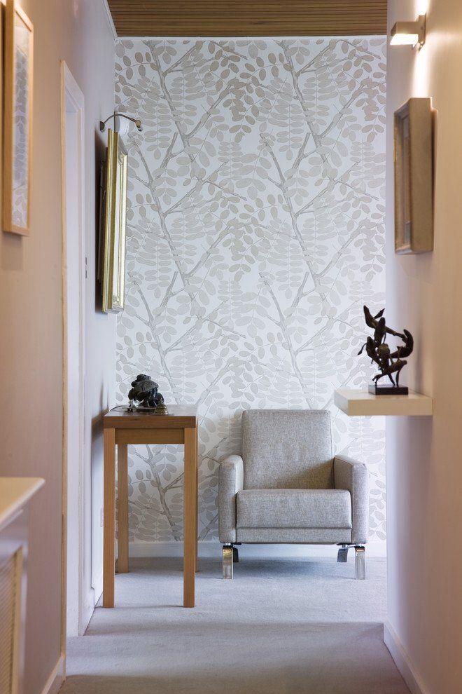 Wohnzimmer Tapeten Ideen Beige Geometrische Schöner Wohnen Tapeten