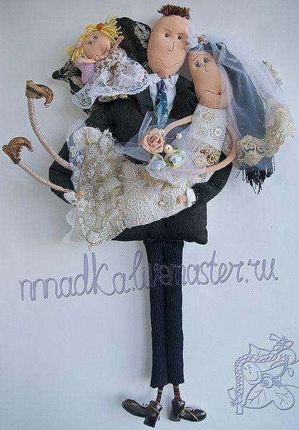 Подарки на свадьбу ручной работы. Ярмарка Мастеров - ручная работа. Купить Семейный портрет. Handmade. Свадьба, текстильная кукла, жених