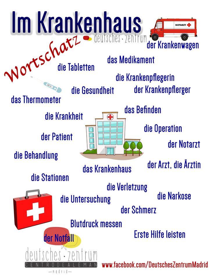Krankenhaus Deutsch Wortschatz Grammatik