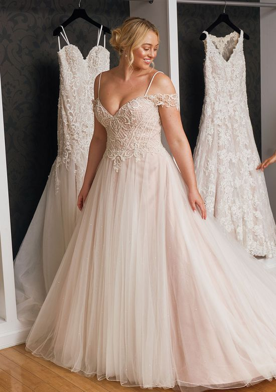 34d2e07c78c Justin Alexander - Style 88052  Floating Crystal Off the Shoulder Dress  Available from Courtyard Bridal Boutique
