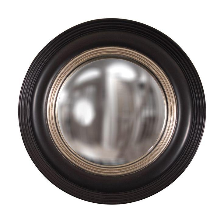 Howard Elliott Soho 14 Round Black Wall Mirror