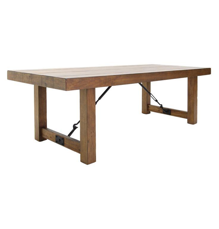 Jarrow Industrial Dining Table - Matt Blatt