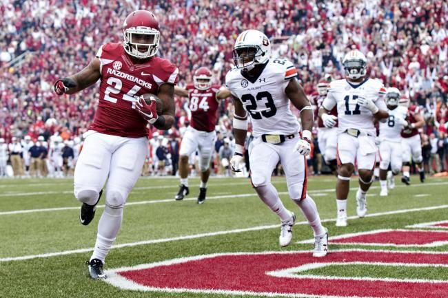 auburn running back cadillac williams   Arkansas Football: Bret Bielema Confident in New-Look Offense ...