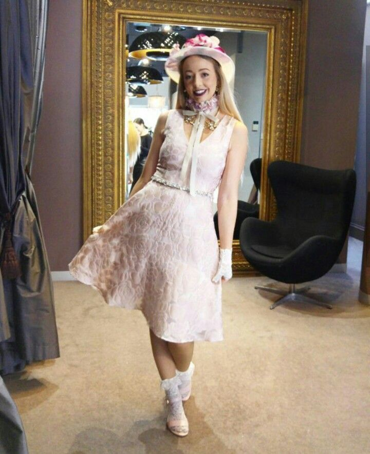 Alannah Hill race outfit   #alannahhill #pink #girl #dress #hat #floral #races