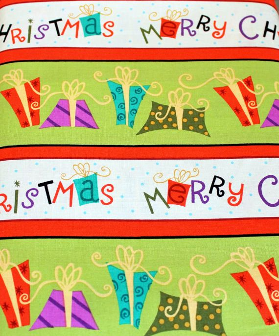 Christmas Fabric Holiday Cheer 1649-4569 Stripe Studio 8 for VIP 100% Cotton Quilt Apparel Craft Merry Christmas Stripe Colorful Packages by JacobandChloesLLC on Etsy